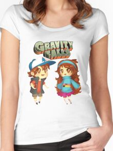 Gravity Falls Cuties Women's Fitted Scoop T-Shirt