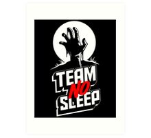 Insomniac Team No Sleep Zombie Hand Art Print