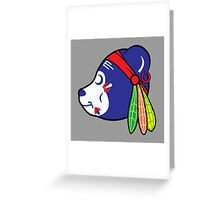 Chicago cubs style  Greeting Card