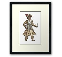 Red Feather Piarte Drummer Cat Framed Print