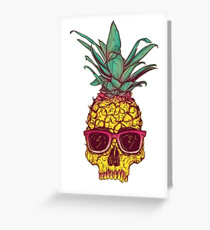 Skull Pineapple Greeting Card