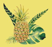 Kids Tropical Pineapple Tee One Piece - Short Sleeve
