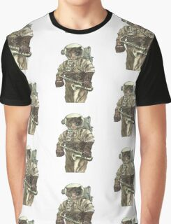 Space Cat with Saxophone Graphic T-Shirt