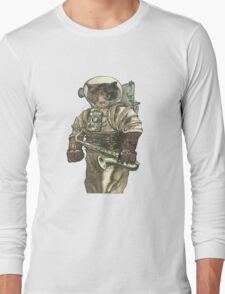 Space Cat with Saxophone Long Sleeve T-Shirt
