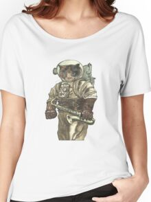 Space Cat with Saxophone Women's Relaxed Fit T-Shirt