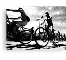 Naked Bike Ride  Canvas Print