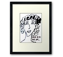 Scary Love is in the air Framed Print