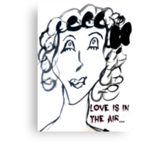 Scary Love is in the air Canvas Print