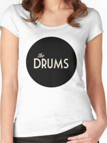 The Drums logo  Women's Fitted Scoop T-Shirt