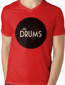 The Drums logo  Mens V-Neck T-Shirt