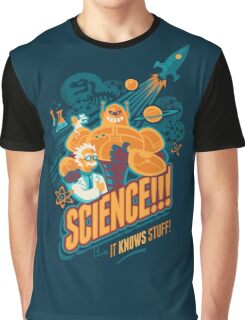 Science!!! It Knows Stuff! (blue) Graphic T-Shirt
