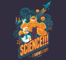 Science!!! It Knows Stuff! (blue) Unisex T-Shirt