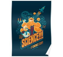 Science!!! It Knows Stuff! (blue) Poster