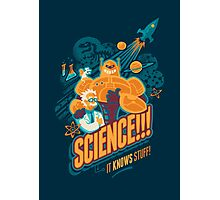 Science!!! It Knows Stuff! (blue) Photographic Print