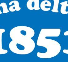 Blue Adpi 1851 Sticker