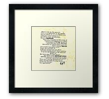 Thompsons Typewriter Framed Print