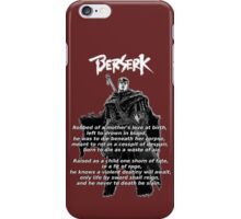 Guts' Verse - Berserk iPhone Case/Skin