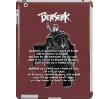 Guts' Verse - Berserk iPad Case/Skin