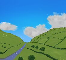 Hill farm by thebigG2005