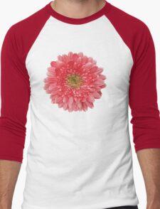 Coral Gerbera Gerber Daisy Flower Floral Men's Baseball ¾ T-Shirt