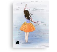 Dancing In the Sea Canvas Print