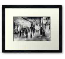 Rush Hour Grunge Framed Print