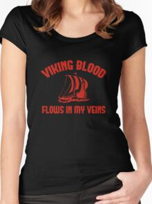 Viking Blood Flows In My Veins Women's Fitted Scoop T-Shirt