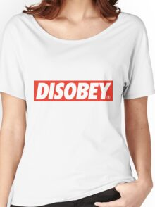 DISOBEY. Women's Relaxed Fit T-Shirt