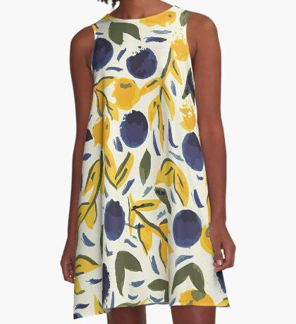 Dots Dots Leaves Leaves A-Line Dress