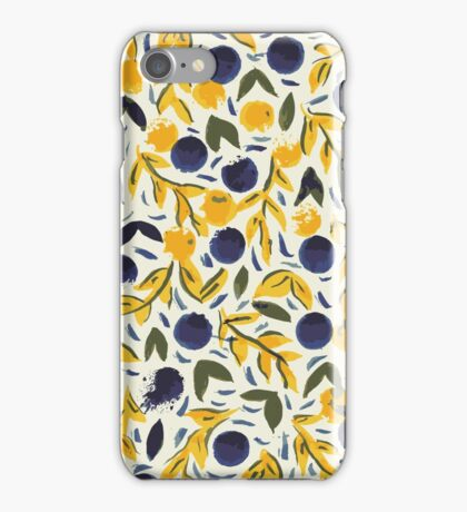 Dots Dots Leaves Leaves iPhone Case/Skin