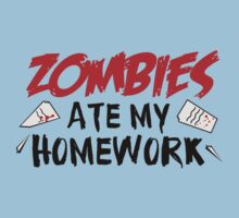Zombies Ate My Homework One Piece - Short Sleeve