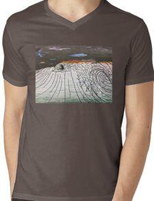 Night Surfing Mens V-Neck T-Shirt