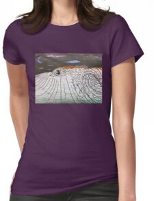 Night Surfing Womens Fitted T-Shirt