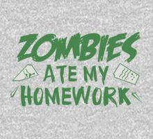 Zombies Ate My Homework One Piece - Long Sleeve