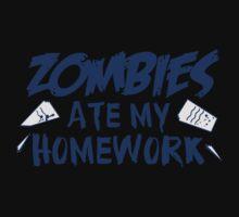 Zombies Ate My Homework Baby Tee