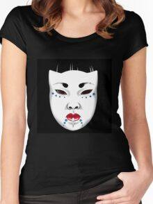 Japanese Porcelain Doll Women's Fitted Scoop T-Shirt