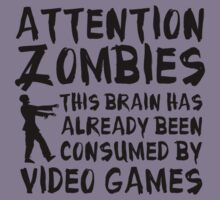 Attention Zombies by DesignFactoryD