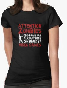 Attention Zombies Womens Fitted T-Shirt