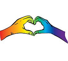 Hands Heart Rainbow Gay Rights Pride Photographic Print