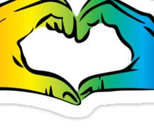 Hands Heart Rainbow Gay Rights Pride Sticker