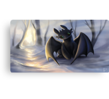 Toothless In Snow Canvas Print