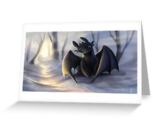 Toothless In Snow Greeting Card