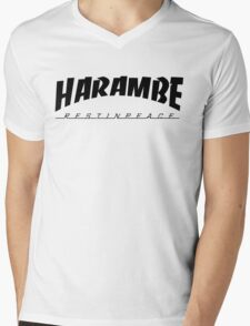HARAMBE VINTAGE COLLECTION Mens V-Neck T-Shirt