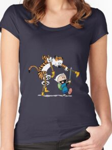 hobbes and calvin time advanture Women's Fitted Scoop T-Shirt