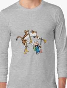 hobbes and calvin time advanture Long Sleeve T-Shirt