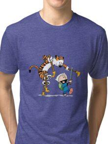 hobbes and calvin time advanture Tri-blend T-Shirt