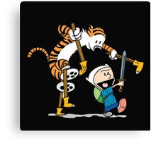 hobbes and calvin time advanture Canvas Print