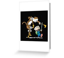 hobbes and calvin time advanture Greeting Card
