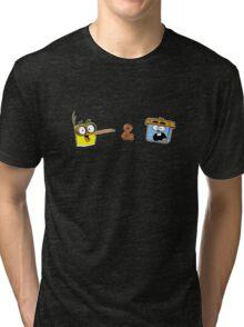 Bird and Squirrel Tri-blend T-Shirt