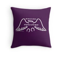Perfect Angel horse white Throw Pillow